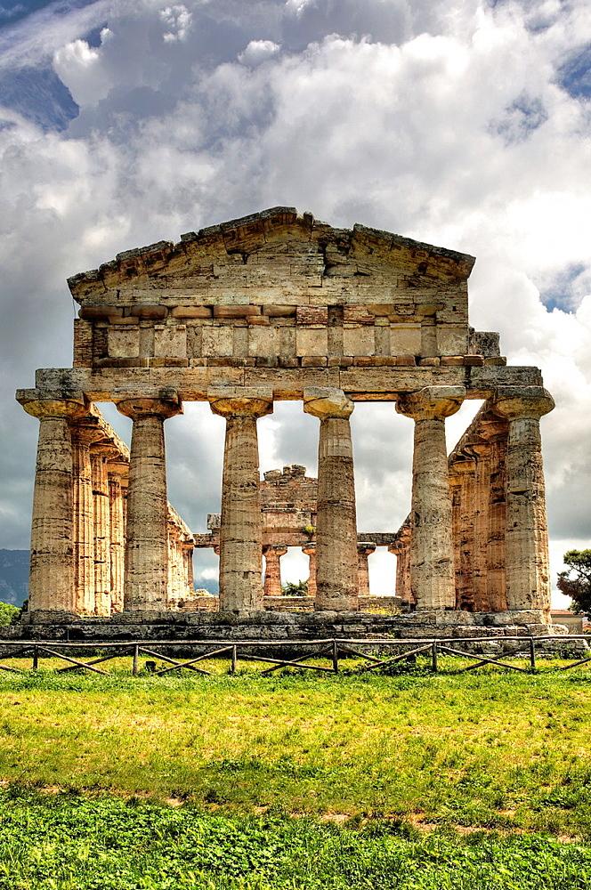 Temple of Athena (500 BC), Paestum, Campania, Italy. - 817-467432