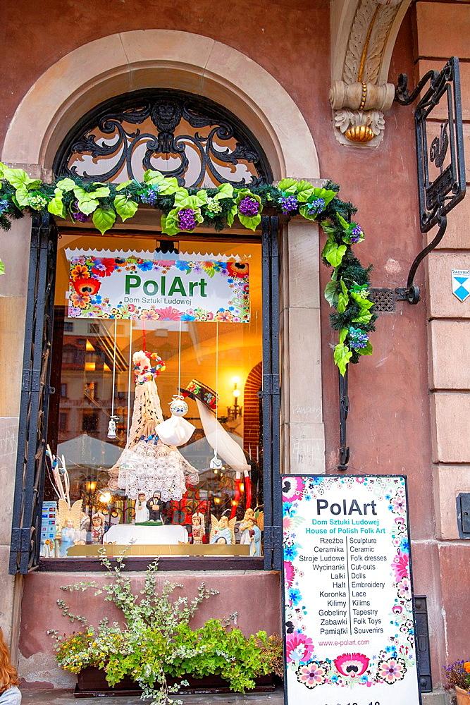 Pol Art Craft Shop, Stare Miasto Neighbourhood, Warsaw, Poland.