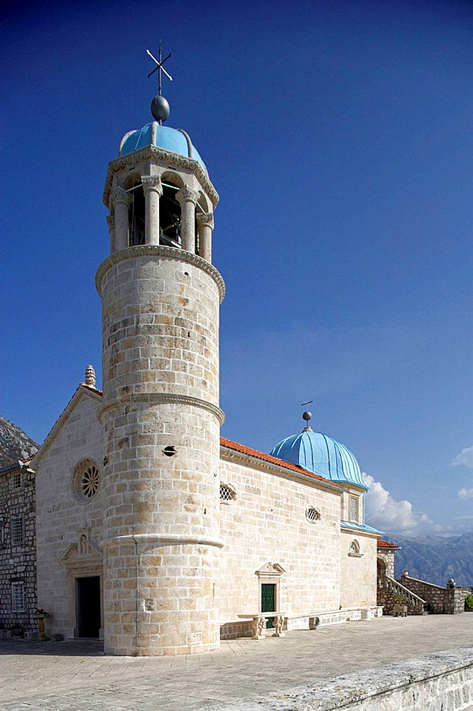 Perast,islet of Our Lady of the Rock,Our Lady of the Rock church,Kotor Bay,Montenegro