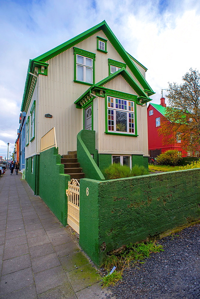 Singular building in Reykjavik city centre, Iceland.