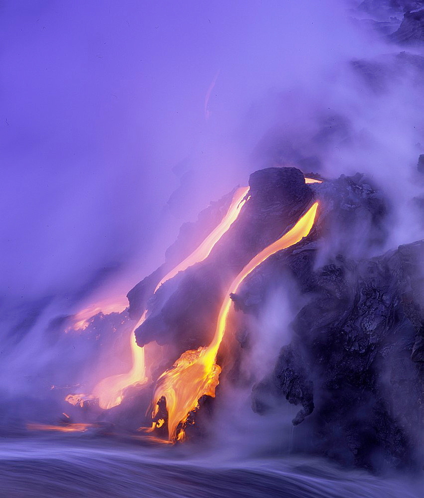 Pu u O o crater of the Kilauea volcano, Hawaii Volcanoes National Park, Island of Hawaii, Hawaii, USA