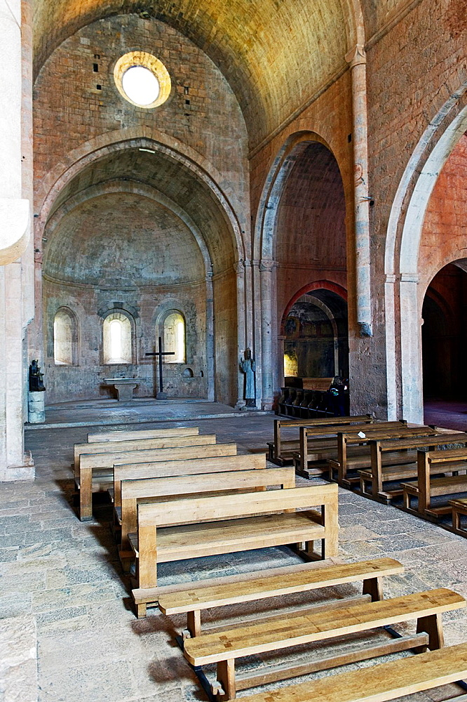 Europe, France, Var, Le Thoronet, Cistercian Abbey. The nave.