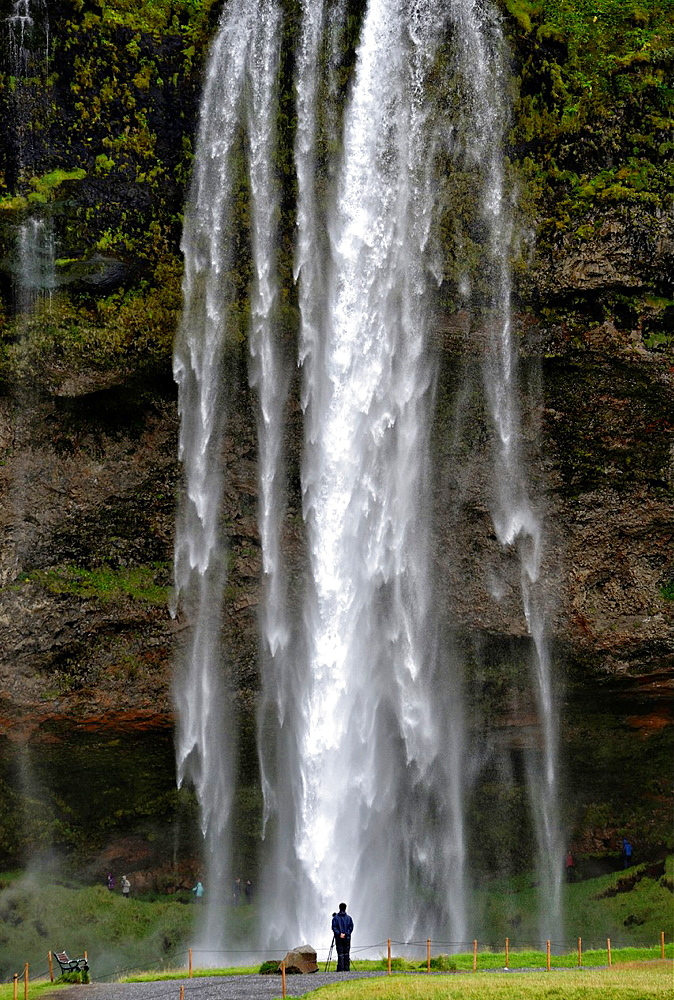 Seljalandfoss waterfall. Southern regions, Iceland.