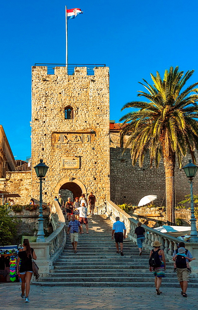 Veliki Revelin Gate Tower in Korcula, Croatia.