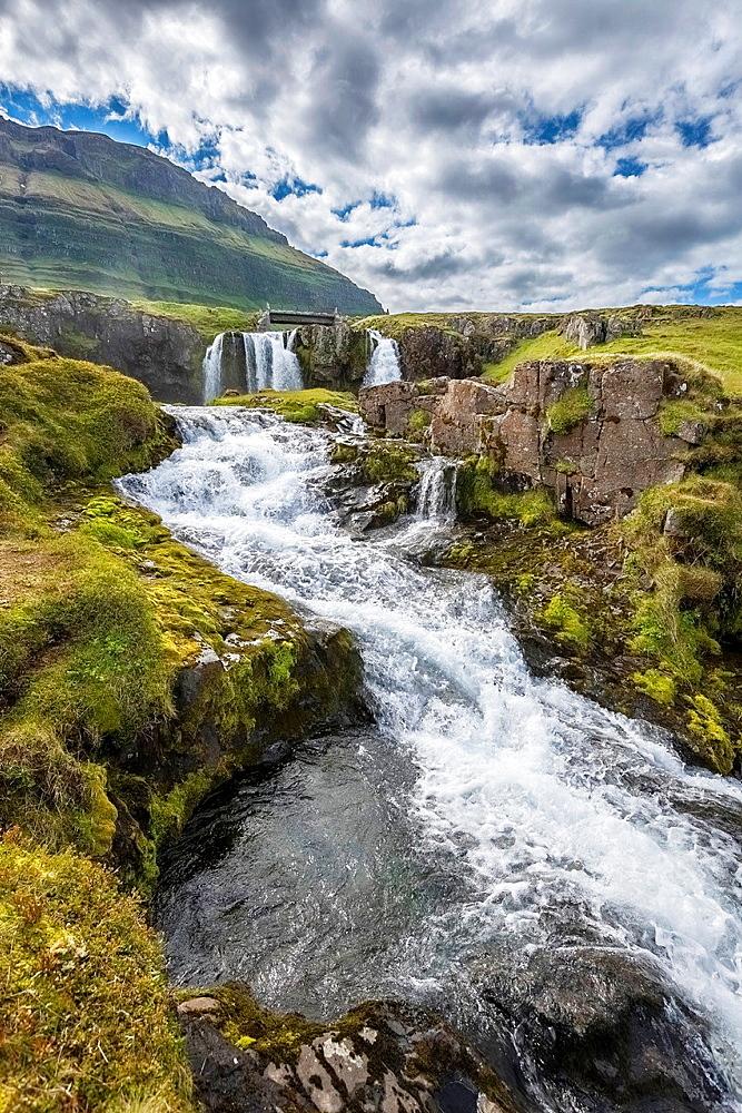 Kirkjufellsfos Church falls, Grundarfjordur, Iceland