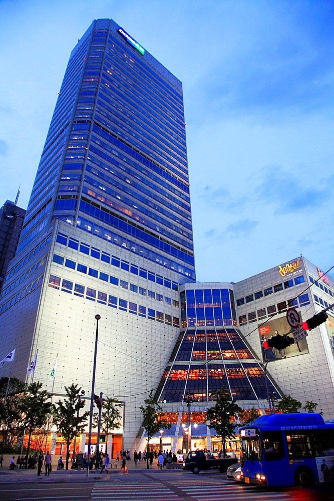 South Korea, Seoul, Dongdaemun area, modern architecture,.
