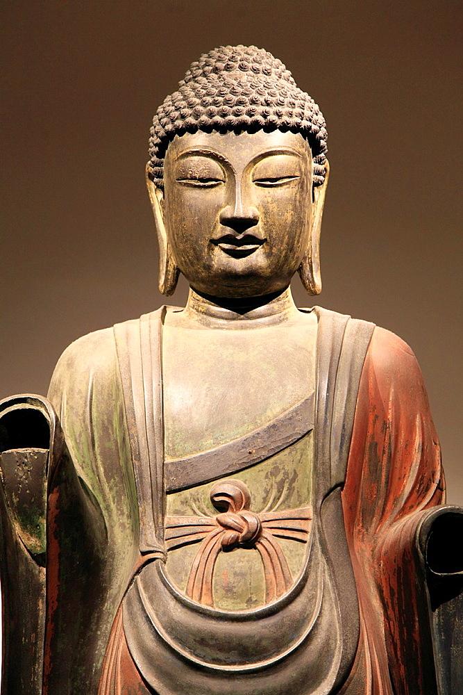 South Korea, Gyeongju, National Museum, Bhaisajyaguru Buddha statue,.