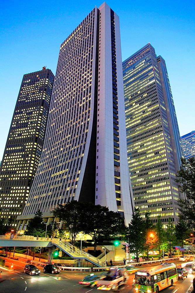 Japan, Tokyo, Shinjuku, skycrapers, street scene,. - 817-470004
