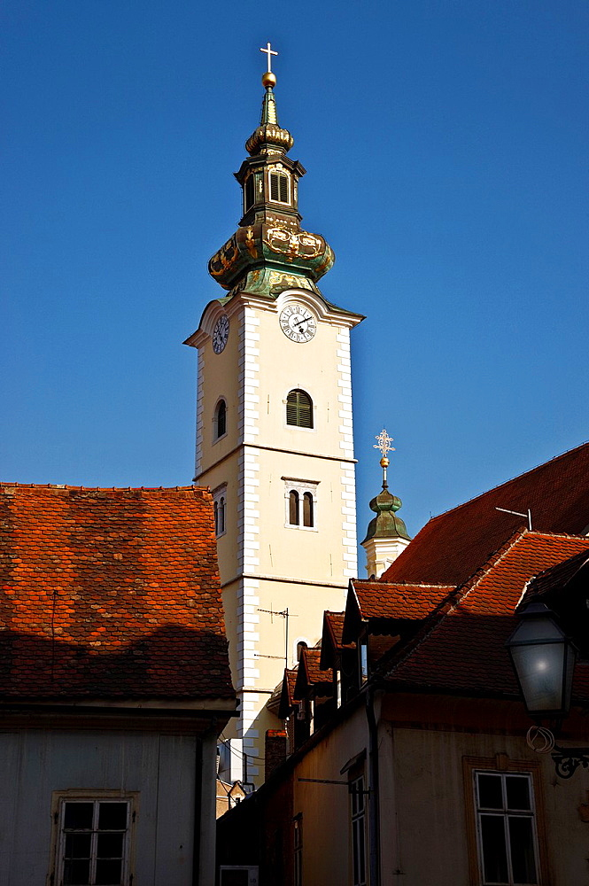 sta. maria tower in old town.zagreb.