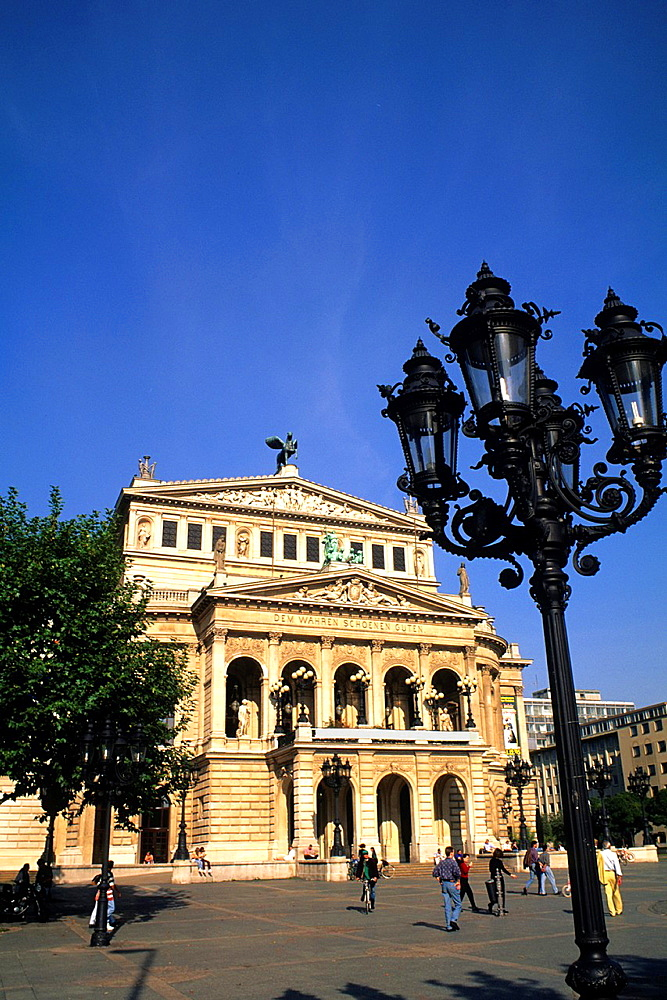 Famous Opera Platz in Frankfurt Germany.