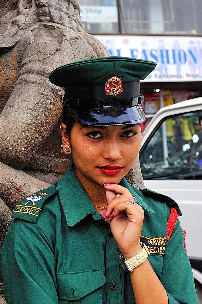 Female police, Durbar Square, Kathmandu, Nepal - 817-470995