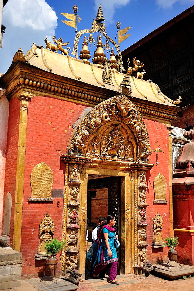 Lu Dhowka or the Golden Gate, Durbar Square, Bhaktapur, Nepal.