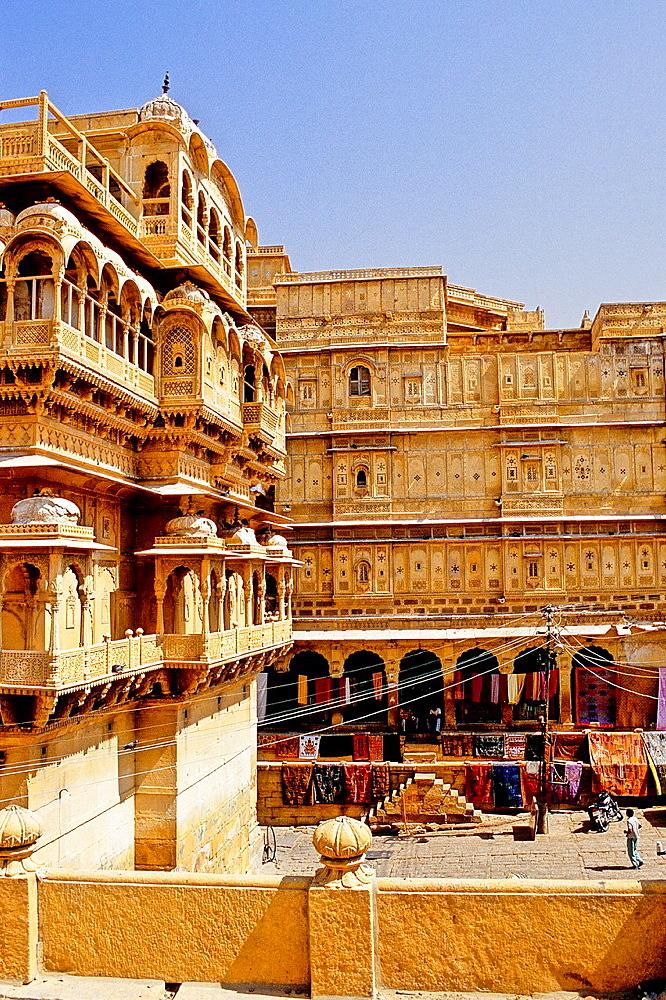 Rajmahal or Royal Palace, Jaisalmer, Rajasthan state, India
