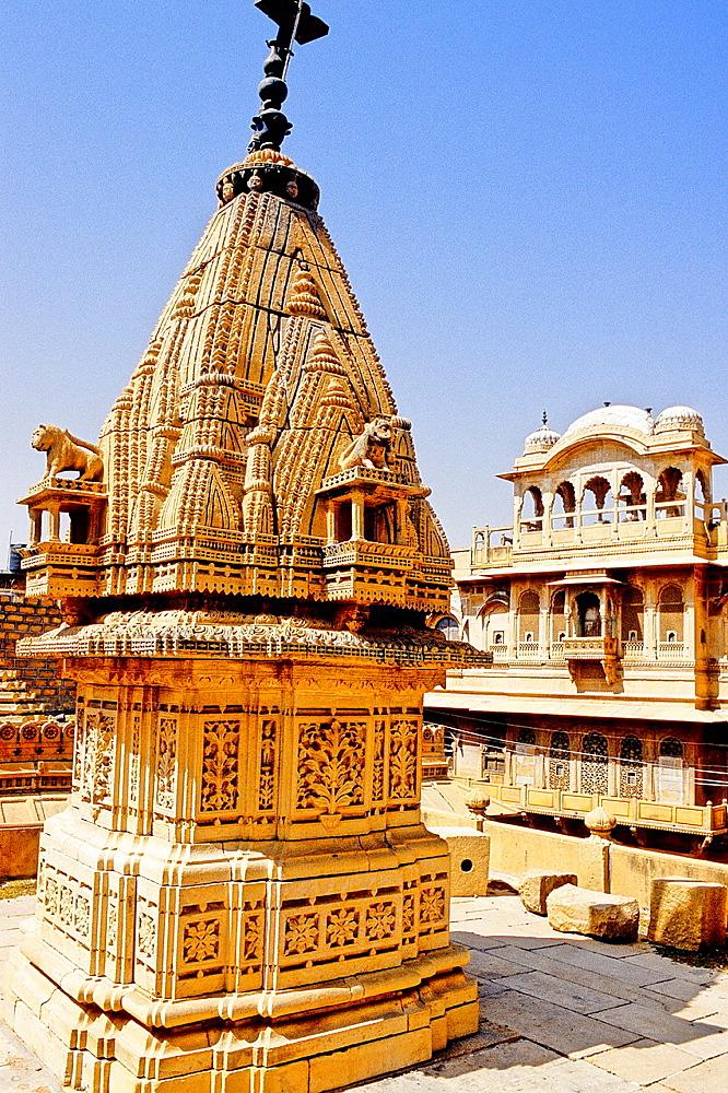 Hindu shrine, Jaisalmer, Rajasthan state, India