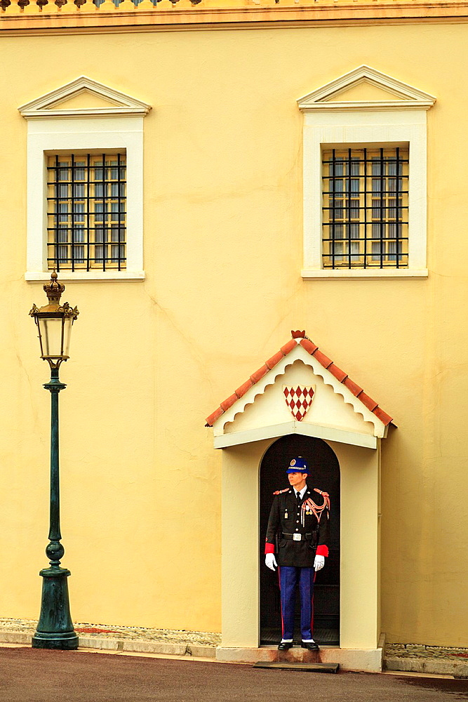 Palace guard at the Prince's Palace,Monaco