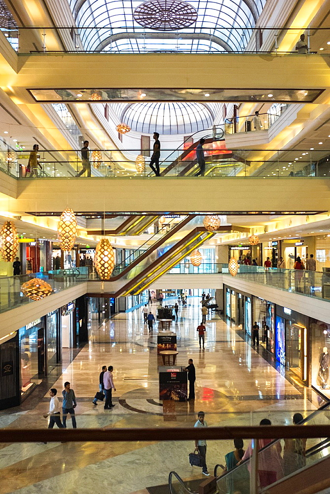 Interior of an upscale shopping mall. - 817-472290