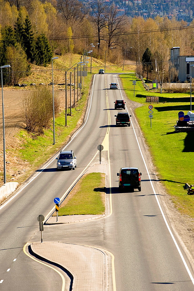 Highway near to Oslo, Norway - 817-472317