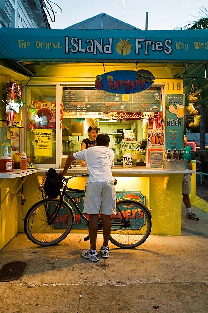 Island Fries, Duval St., Key West, Florida, USA