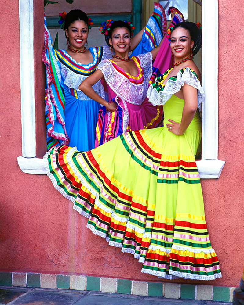 Color:dancers, Merida, Yucatan, Mexico. - 817-53390