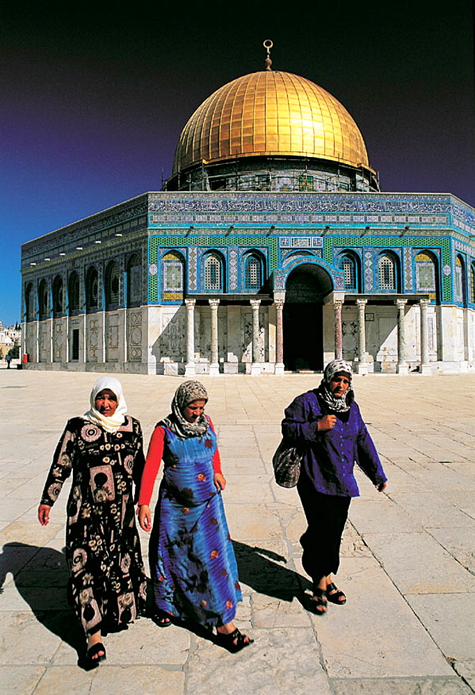 Dome of the Rock and Palestinian people, Jerusalem, Israel