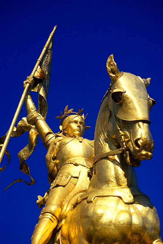 Joan d'arc statue, Philadelphia, Pennsylvania, USA.