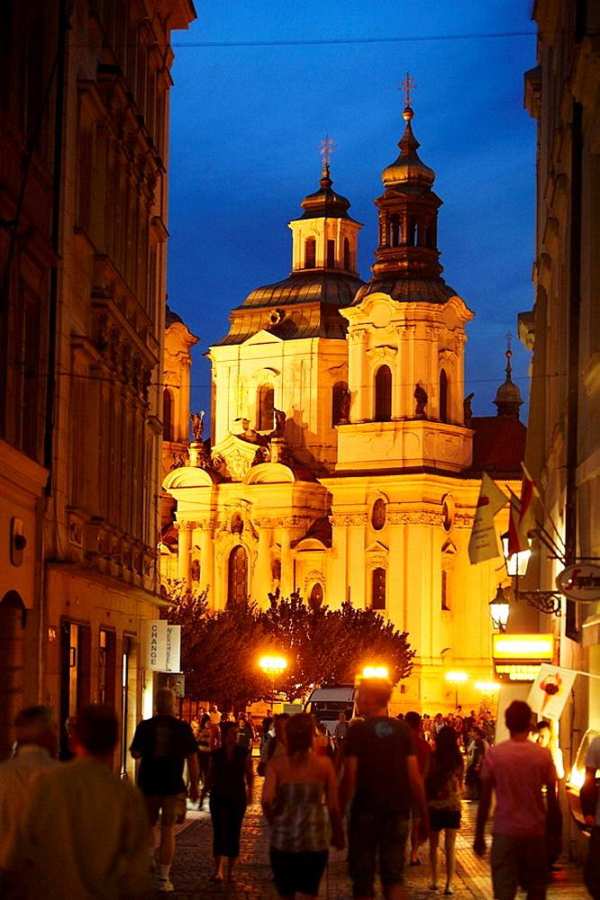 St, Nicholas Church, Staromestske Namesti (Old Town Square), Prague, Czech Republic