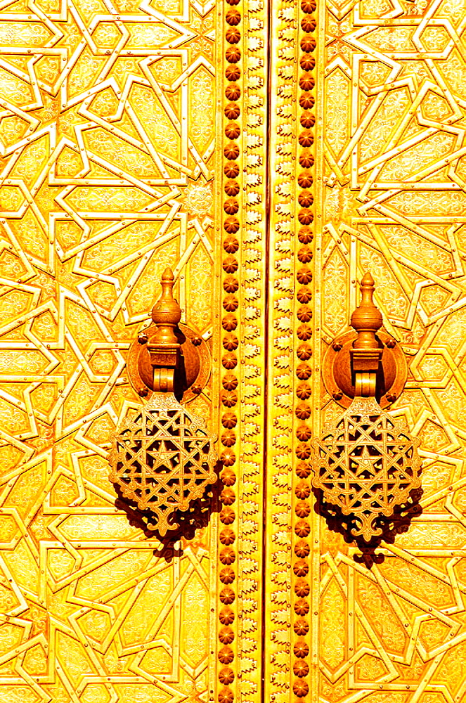 Detail of Royal Palace door, Fes, Morocco - 817-68494