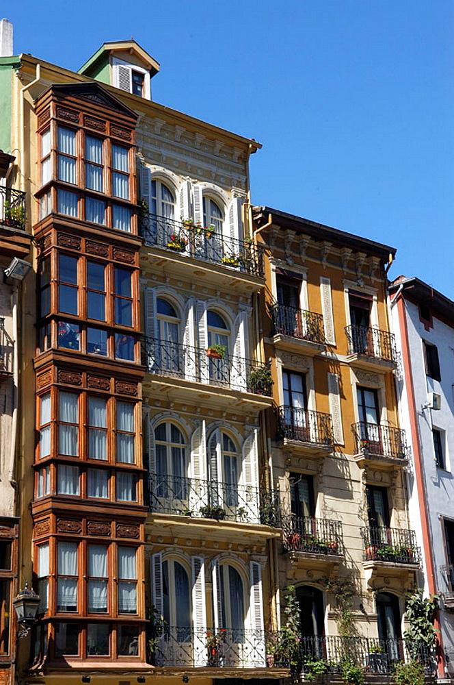 Old Town, Casco Viejo, Bilbao, Spain
