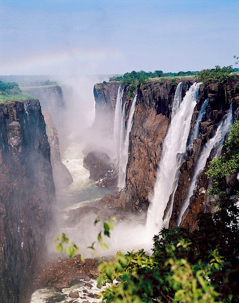 Victoria Falls seen from Zambia, Zimbabwe