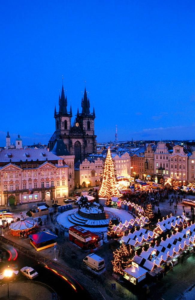 Christmas market, Old Town Square, Pregue, Czech Republic