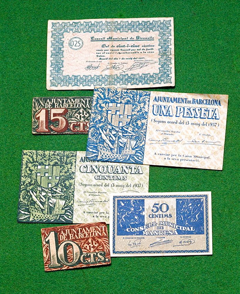 Banknotes, (1937-1938)