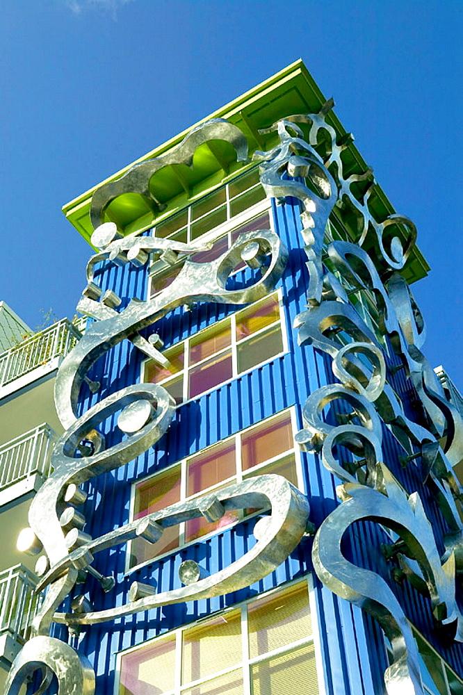 New architecture at Fremont unconventional neighborhood, Seattle, Washington, USA