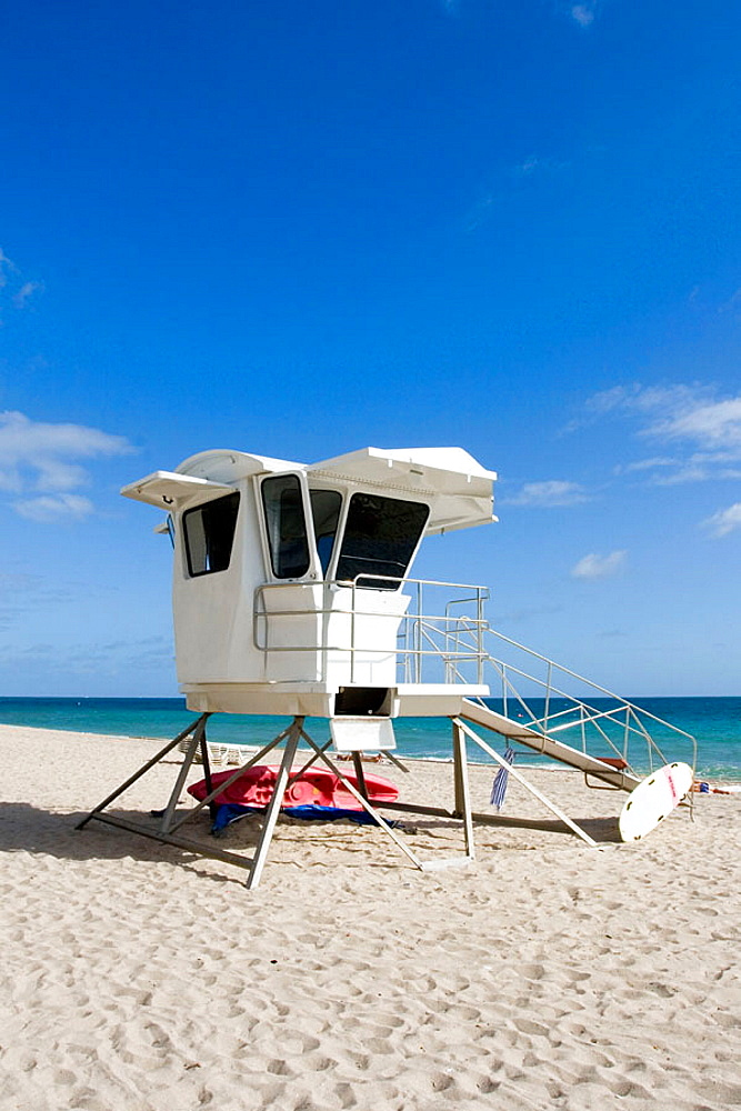 Fort Lauderdale Beach / Life Guard Shack, Fort Lauderdale, Florida, USA