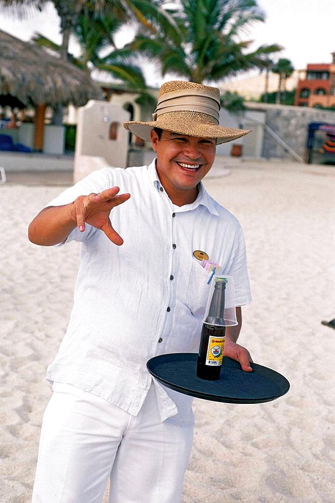 Mexico, Baja California, Los Cabos, Village Cabo San Jose, Hotel Casa del Mar, Lunch on the beach, Margarita time.