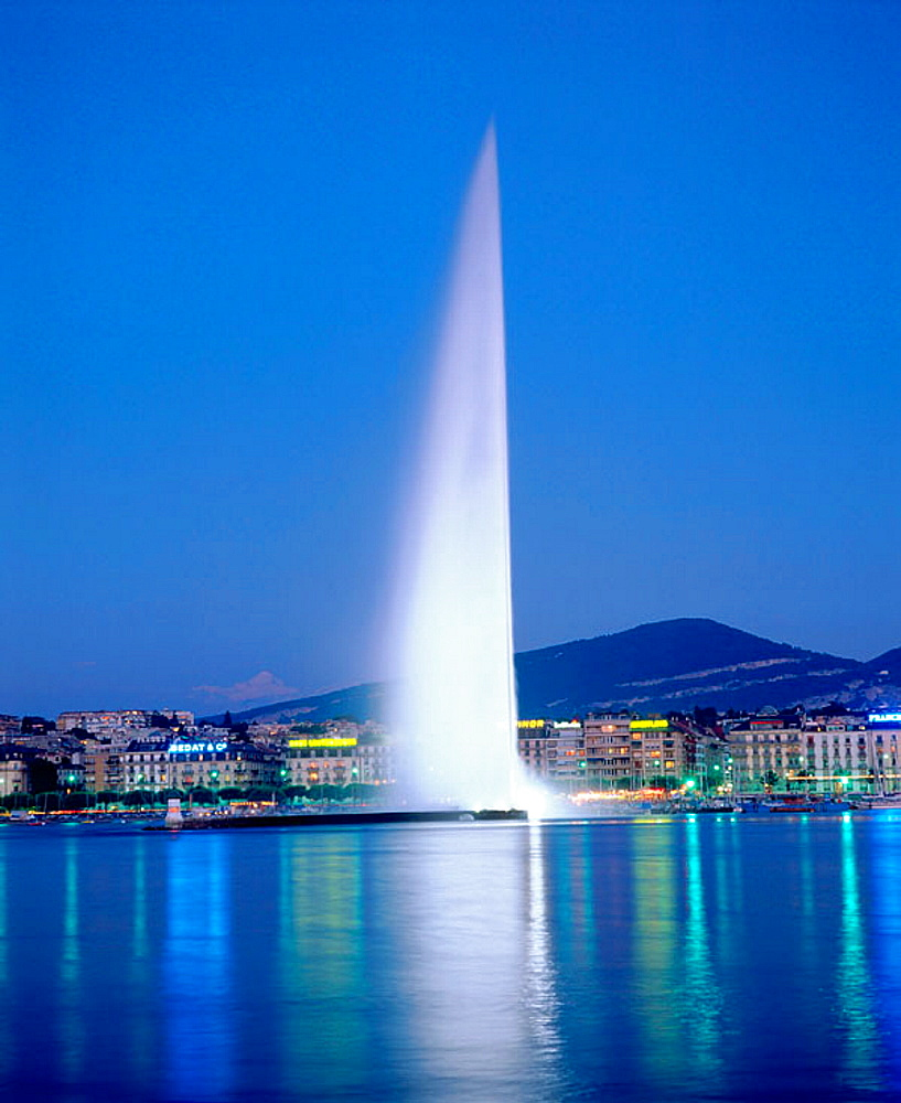 Water fountain, Geneva, Switzerland