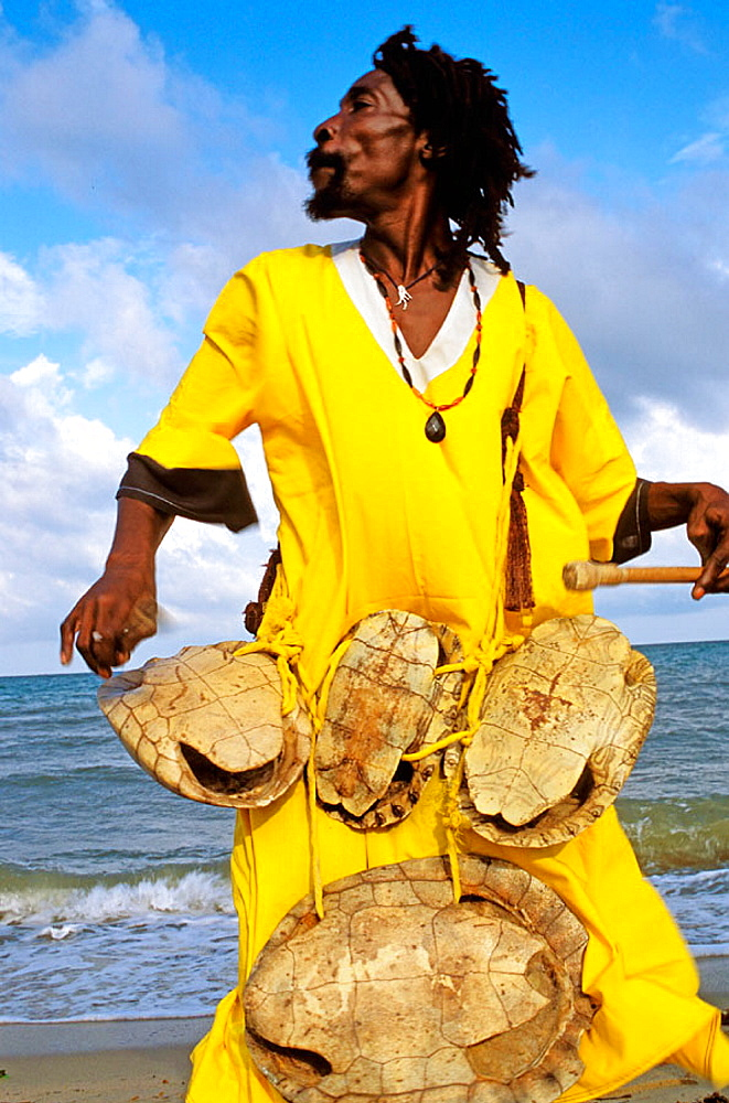 The Original Turtle Shell Band, group of 'Garifuna' musicians, Dangriga, Stann Creek, Belize