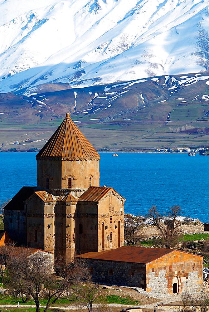Turkey, East Anatolia Province, Lake Van, Akhtamar island, Armenian Church, Kurdistan.