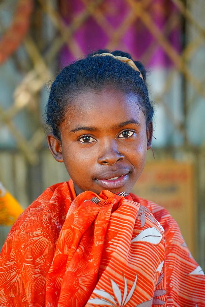 Children at Bekopaka village, Tsingy de Bemaraha National Park, Melaky Region, Western Madagascar, Africa