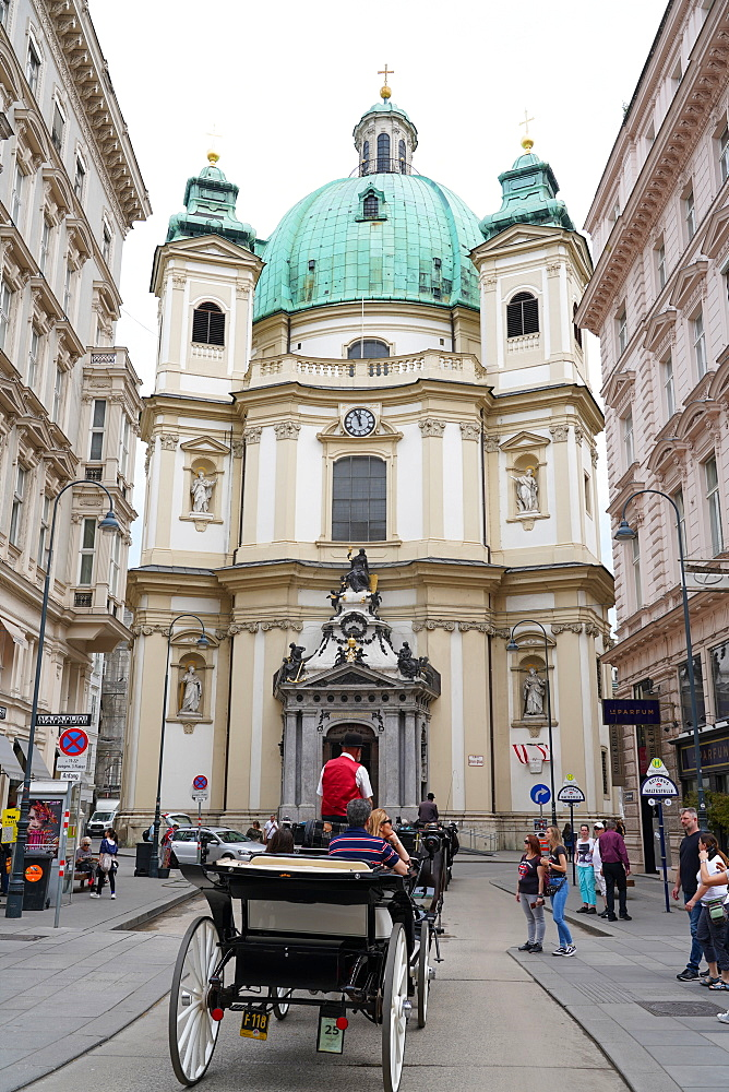 The Peterskirche, St. Peter's Church is a Baroque Roman Catholic parish church in Vienna, Austria, Europe