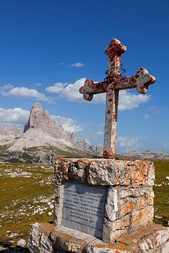Monte Piana open-air First World War Museum, Tre Cime di Lavaredo, Belluno, Bozen, Dolomites, Italy, Europe