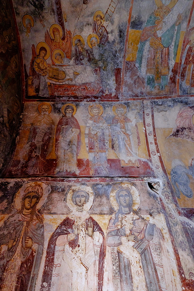 The 17th century frescoes of the Monastery of Theoktistis, Ikaria, North Aegean Islands, Greek Islands, Greece, Europe