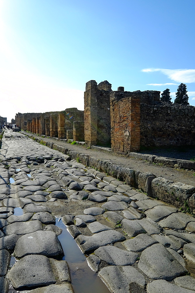 Via Consolare, Pompeii, UNESCO World Heritage Site, the ancient Roman town near Naples, Campania, Italy, Europe