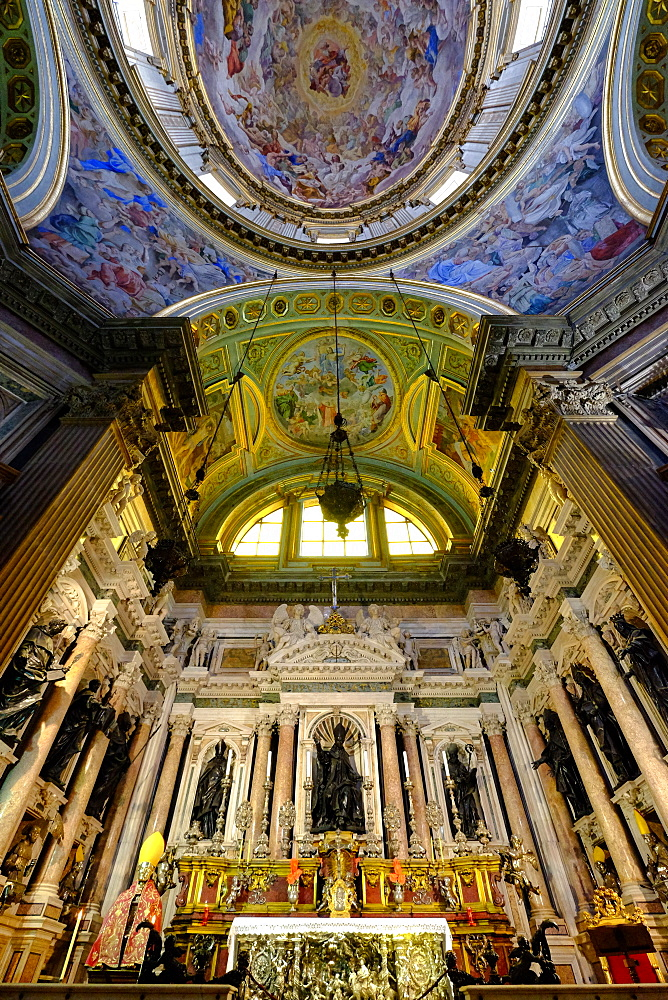 Royal Chapel of the Treasure of San Gennaro, Frescoes of the Dome by Domenichino, Naples Cathedral, Naples, Campania, Italy, Europe - 819-733
