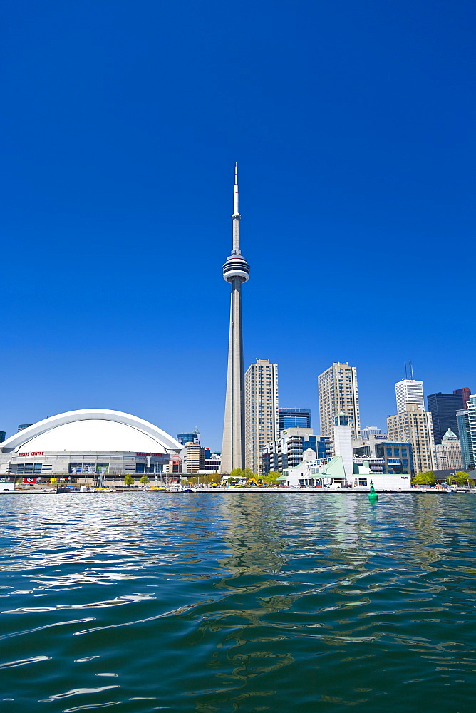 City skyline showing CN Tower, Toronto, Ontario, Canada, North America - 821-189