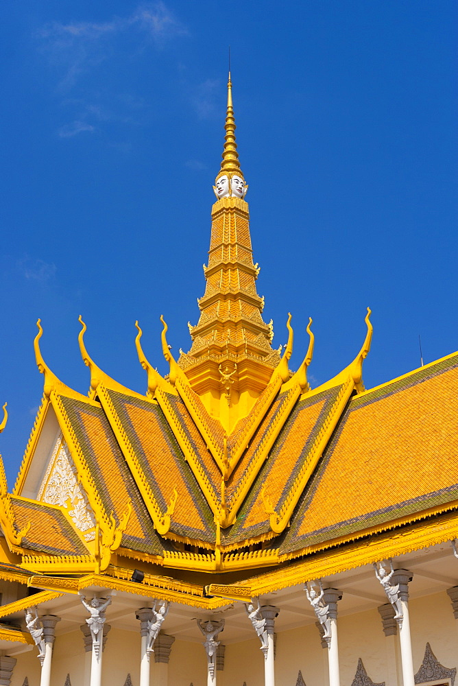 Throne Hall, Royal Palace, Phnom Penh, Cambodia, Indochina, Southeast Asia, Asia - 821-229