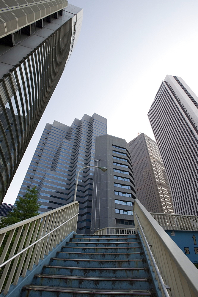 The first true skyscrapers in Japan are these in West Shinjuku, Tokyo, Japan
