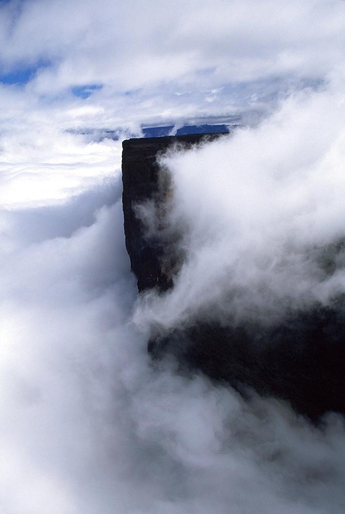 Aerial View of Mount Kukenaam (Kukenan) (Cuguenan), Venezuela, South America