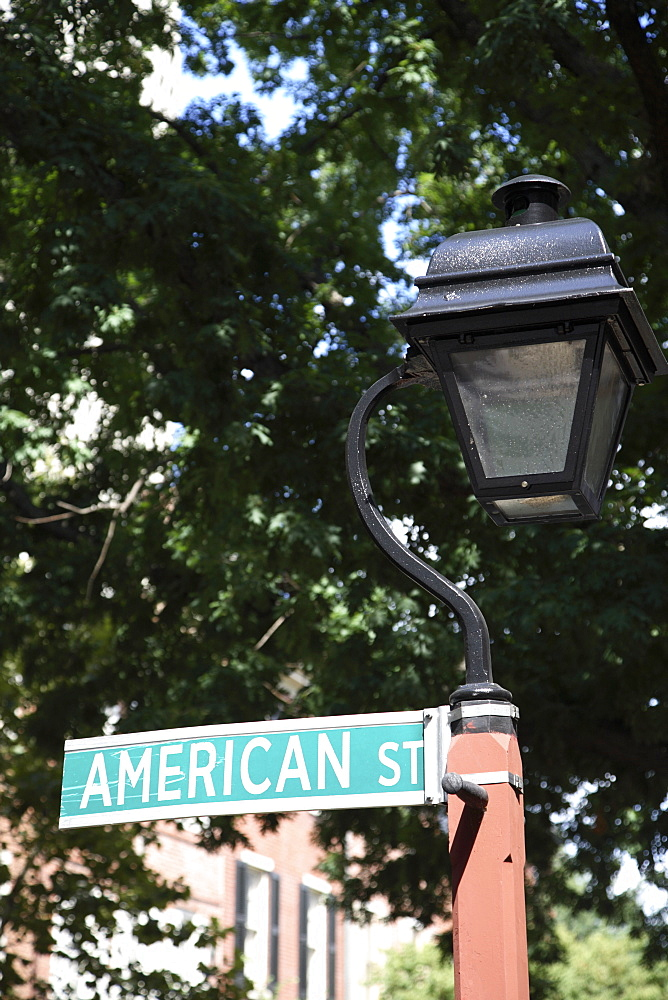 Sign for American Street in Philadelphia, Pennsylvania, United States of America, North America - 825-112