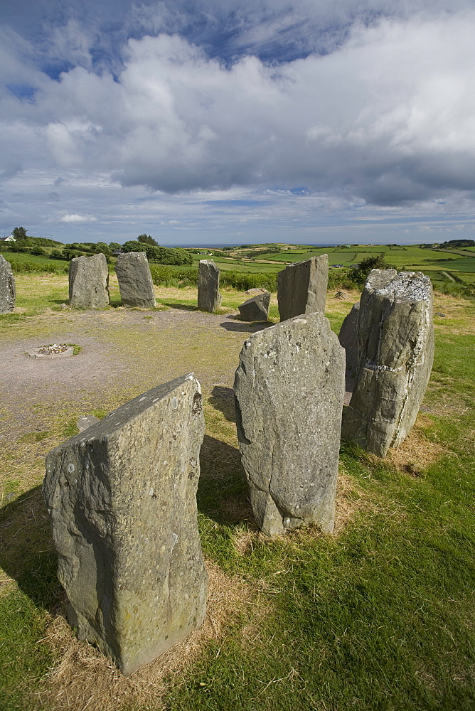 Drombeg stone circle, a recumbent stone circle locally known as the Druid's Altar, County Cork, Munster, Republic of Ireland, Europe - 825-134