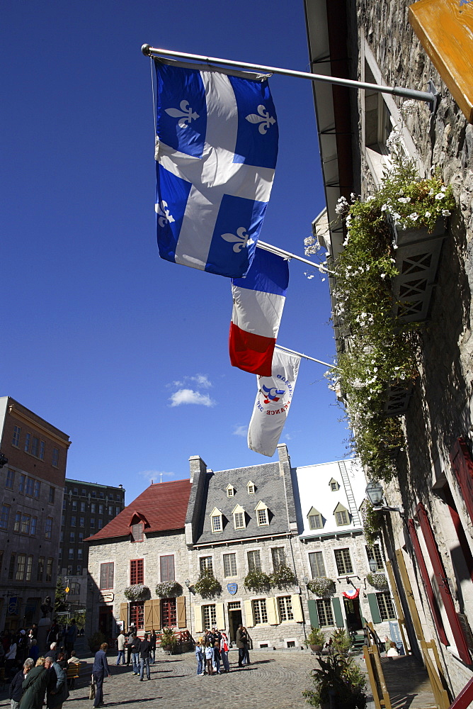 Place Royale in Old Quebec, Quebec City, Quebec, Canada, North America - 825-143